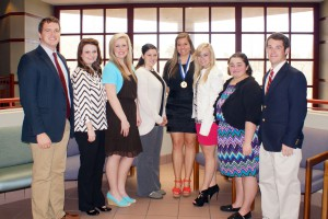 Spring 2014 officers for the Alpha Omicron Omega chapter of Phi Theta Kappa, Rankin Campus.