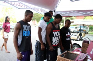 Donald Dotson, Paris Thomas, Jabarrie Robinson, Charston Armstrong and Jamison Runnels attend Tuesday with a Twist