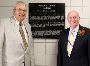 Hinds President Dr. Clyde Muse and Joe Loviza
