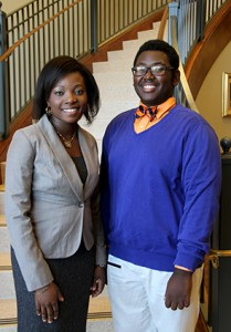 Makafui Tona, left, and Marquise Hillman of Madison were among the inductees.
