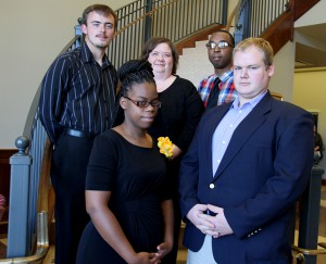 From back left, Asher Mitchell of Silver Creek, Lisa Kinnison of Brookhaven, Darrell Jones of Oxford, Lena Dixon of Chicago, Illinois and Andrew Bishop of Mize.