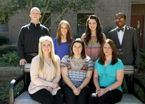Officers include, front from left, Haylee Jones of Harrisville, vice president of membership; Destany Raines of Florence, president; Kristina Middleton of Brandon, vice president of leadership; back, Brayden Witcher of Brandon, recording secretary/officer; Kristen Miley of Forrest, vice president of fellowship; Victoria Nielsen of Pearl, vice president of service and Joshua Taylor of Flowood, vice president of scholarship. Not pictured is Dylan Vaccaro, public relations secretary.