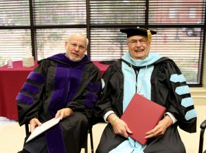 Graduation speaker Charlie Mitchell of Oxford and Hinds President Dr. Clyde Muse.