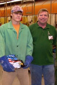 Zach Thomas, Vicksburg-Warren Campus instructor Joe Johnston