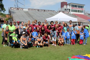 Students in Hinds Community College Physical Therapy Assistant program and Future Educators of America were volunteers at the field day for special education students in Hinds County school district.