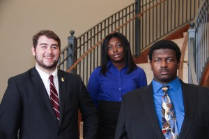 Inductees include, From left to right, front row: Ryan Williamson, Raymond; Bennie C. Buckner, Jr., Hinds County; back row: Selena Hunter, Utica. (April Garon/Hinds Community College)