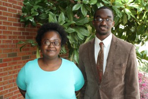 Inductees included, from left, Donnias Jordan and Jabari Williams, both of Jackson. (Tammi Bowles/Hinds Community College)