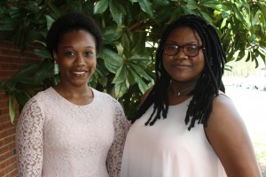 Inductees included, from left, Tye Sutton, of McCall Creek, and Alantra Brown, of Columbia. (Tammi Bowles/Hinds Community College)