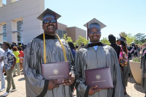 Father and son James Proctor, Sr. and James Proctor II, of Brandon,  graduated from Hinds Community College with career certificates in Residential Carpentry  and Automotive Collision Repair. (April Garon/Hinds Community College)