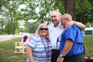 Hinds President Dr. Clyde Muse with Janet and Thomas Wasson