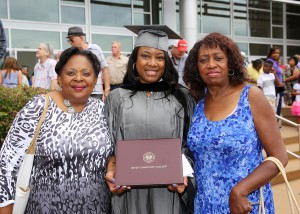 Ashley McIlroy of Jackson graduated from Hinds Community College on July 29 with a practical nursing degree. With her are aunts, JoAnn Johnson, left, and Dorothy Dupree, right.
