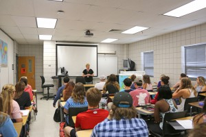History instructor Joy Rhoads teaches American History I on the first day of the fall 2016 semester at Hinds Community College Rankin Campus. (Hinds Community College/April Garon)