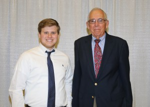 Among those recognized was recipient Damian Winterstein, left, of Pearl, who received the Ann Sanders Arnold Scholarship. With him is Douglas A. Arnold, of Southaven.