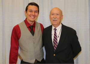 Among those recognized was recipient Dakota Conway, left, of Richland, who received the Ben Adkins Memorial Scholarship. With him is Dr. Murphy Adkins, of Brandon.