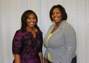 Among those recognized was recipient Christal Lewis, of Edwards, who received the Conerly & Pinston Scholarship. With her is Lashonda Eades, of Brandon.