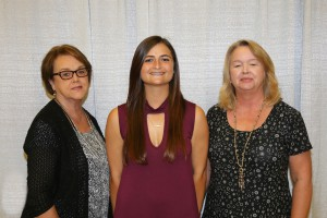Among those recognized was recipient Brooke Patterson, center, of Vicksburg, who received the Dr. Troy Lee Jenkins Scholarship. With her are Shelby Lewis, left, of Vicksburg, and Lisa Whatley, right, of Utica.