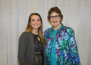 Among those recognized was recipient Sarah Orr, left, of Clinton, who received the Fred L. and Sue Longest Brooks Scholarship. With her is Sue Longest Brooks, also of Clinton.