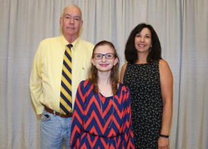 Among those recognized was recipient Shelby Wilson, center, of Vicksburg, who received the Marie McKay Campbell Scholarship. With her is Joe Campbell, left, of Brandon, and Cathy Cauthen, right, of Madison.