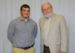 Among those recognized was recipient Ronald Fitzhugh, of Philadelphia, who received the Mary Orr Adams Garden Club of Jackson Scholarship. With him is Robert Adams, of Jackson.