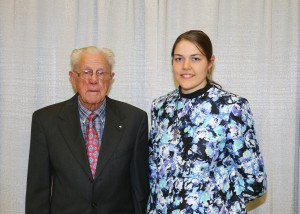 Among those recognized was recipient Kaitlyn O'Keefe, of Terry, who received the Roland & Claire Meeks Cranford Scholarship. With her is Dr. Roland Cranford, left, also of Terry.