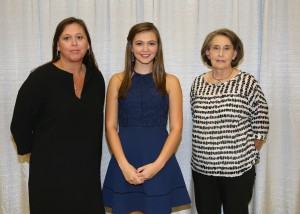 Among those recognized was recipient Sara Aultman, of Mendenhall, who received the Tom Burnham Jr. & Sondra Burnham Vanderford Scholarship. With her is Sondra Burnham Vanderford, left, and Martha Burnham, right, both of Puckett.