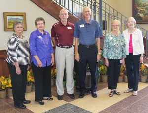 Those representing the classes between 1960 and 1965 were, from left, Barbara Smith Boyd of Learned, 1960; Mary Bess Beard Boyd of Bolton, 1960; Bill Ferguson of Learned, 1960; Dean Liles of Plano, Texas, 1961; Warrene Hand Holliday of Terry, 1962 and Alice Shuff Connelly of Raymond, 1963.