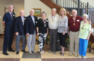 "Among those who attended were the class of 1966, from left, Michael Beauchamp of Raymond, Dr. Lynn Weathersby of Florence, Tom Shuff of Raymond, Becky Bryant Holbrook of Raymond, James ""Hoppy"" Bennett of Hattiesburg, Pat Towler Bennett of Hattiesburg, Dennis Allen of Baton Rouge and Connie Beth Palmer Allen of Baton Rouge."