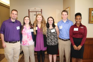 Members of Hinds Community College's Student Voices met with legislators in the college's district during the Nov. 17 annual Legislative Luncheon held on the Raymond Campus. The Student Voices group learn about the governmental process and community college issues. They include, from left, Donavon Drennan of Madison, Nicole Rigsby of Brandon, Joanna Stevens of Terry, Abigail Baker of Clinton, Landon Hunter of Hermanville and Tye Sutton of McCall Creek.