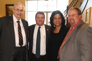 Hinds President Dr. Clyde Muse, Rep. Alex Monsour of Vicksburg, Rep. Deborah Butler Dixon of Raymond and Dr. Chad Stocks at the Nov. 17 Legislative Luncheon at Hinds Community College.