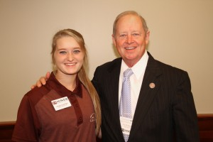 Hinds Community College student Logan Courtney and Rep. Tom Weathersby, both of Florence.
