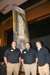 Stribling Equipment along with Empire Trucking and Baptist Health Services sponsored Hinds Community College's Career Exploration Day on Nov. 8 at the Rankin Campus. Stribling employees are, from left, Derek Rogers, Gary Broadwater and Ryan Rosson.