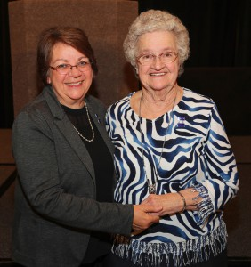 Dr. Libby Mahaffey, left, and Bobbie Anderson