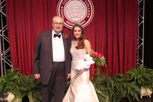 Hinds Community College President Dr. Clyde Muse and Miss Hinds Community College 2017 Abigail Walters, of Vicksburg. (Hinds Community College/April Garon)
