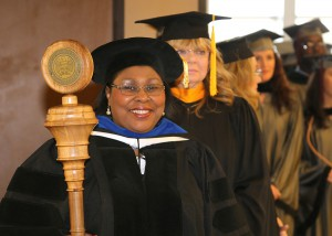 Dr. Joyce Jenkins, retired Hinds Community College dean for Raymond Campus Career-Technical Education was the grand marshal and mace bearer for the nursing and allied health graduation ceremony on Dec. 16