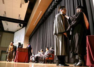 Ivan Muniz of Clinton receives an Associate Degree in nursing on Dec. 16 at Hinds Community College graduation ceremonies held at the Muse Center on the Rankin Campus.