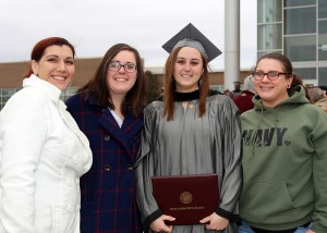 Emily Herring of Flowood graduated from Hinds Community College on Dec. 16 with a certificate in dental assisting. Celebrating with her are, from left, Natalee Long, Olivia Etheridege and, right, Laurel McLeland.