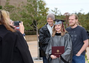 Hannah Wells of Pearl graduated in dental assisting from Hinds Community College on Dec. 16 in a ceremony at the Muse Center on the Rankin Campus. She is with Paul Bennett, left, and Caleb Bennett. Taking the photo is Stephanie Morgan.