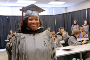 Keila Adams, of Jackson, was among nearly 900 graduates at ceremonies held Dec.16 at the Muse Center on the Rankin Campus. She earned an Associate of Applied Science degree in Interpreter Technology, graduating summa cum laude. (April Garon/Hinds Community College)