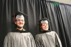 Jimmy Phillips, left, of Copiah County, and Thomas Scoggins, of Richland, were among nearly 900 graduates from Hinds Community College who received credentials in three ceremonies Dec. 16, 2016. (Hinds Community College/April Garon)