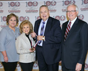 April Garon/Hinds Community College Jackie Granberry, executive director of the Hinds Community College Foundation; Linda Brent Bath; Hinds President Dr. Clyde Muse and Paul Breazeale, president of the Hinds Community College Board of Trustees