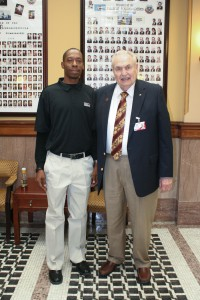Napoleon Miller, left, a Hinds Community College student who completed the MI-BEST program, and Hinds Community College President Dr. Clyde Muse. (Hinds Community College/Cathy Hayden)