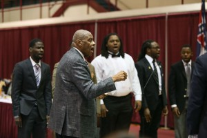 Dr. Bobby G. Cooper directs the Jubilee Singers.
