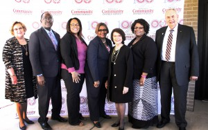 From left, Dr. Leroy Levy, Dr. Ericka Davis, Carolyn Watkins, Dr. Mary Ann Greene, Gayle Miles, Dr. Clyde Muse (Hinds Community College/Tammi Bowles)