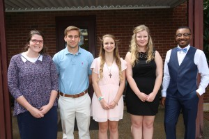 From left, Brianna Norris, of Byram; Caleb Pace, of Terry; Abby Taggart, of Byram; Audra Canoy, of Terry; Gregory D. Brown Jr., of Terry.