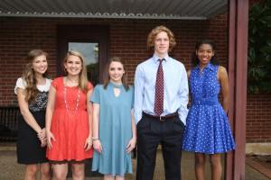 Anne Claire Ades, of Raymond; Brinkley Branch, of Raymond; Taylor Parsons, of Bolton; Mason Sollie, of Raymond; Marrissa Jones, of Raymond.