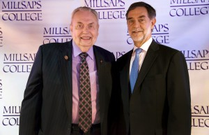 Hinds Community College President Dr. Clyde Muse, left, and Dr. Robert W. Pearigen, president of Millsaps College