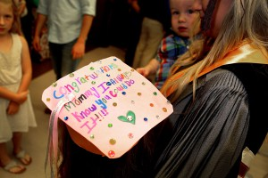 Averey Chapman wore a special graduation cap to commemorate mom Kayla Null's graduation from Hinds Community College on May 12 with a radiology degree. They live in Brandon.