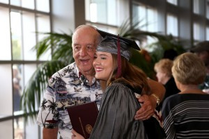 Ally Peterson of Richland celebrated receiving her Associate Degree in Nursing from Hinds Community College on May 12 with family including her grandfather Jerry Rogers.