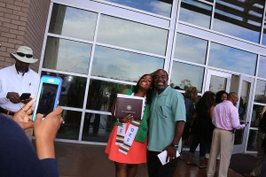 Gabrielle Thomas of Jackson received a degree in respiratory care from Hinds Community College on May 12. She is with dad Carl Thomas.
