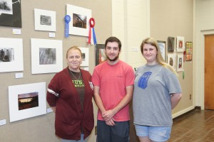 PHOTOGRAPHY winners, from left, Susan Moore, of Crystal Springs, honorable mention; Jonathan Braud, of Terry, first place; Angela Creekmore, of Clinton, third place; not pictured is Bria Williams, of Clinton , second place (Hinds Community College/April Garon)